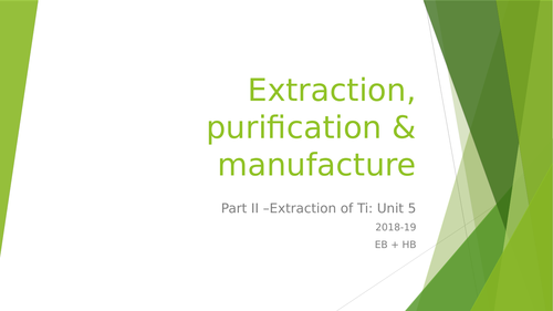 Extraction of Al and Ti 2 x lessons