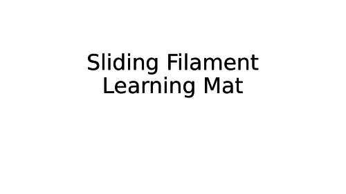 Sliding Filament Learning Mat