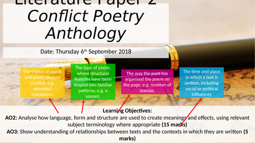 Edexcel Conflict Poetry Intro and Cousin Kate
