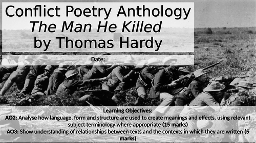 The Man He Killed by Thomas Hardy
