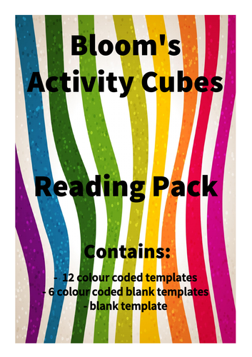 Bloom's Reading Cubes and Bloom's Activity Cubes - bundle