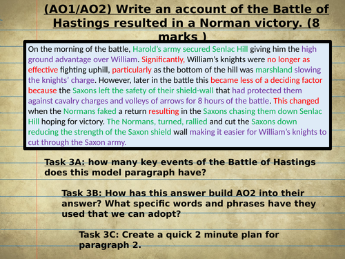 16 Norman GCSE Exam Questions with Models and Revision Tasks