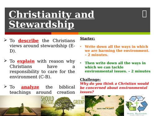 Christianity and Stewardship