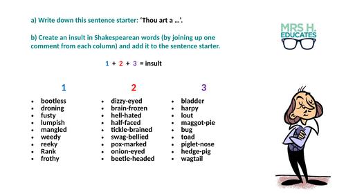 Shakespeare Insult Grid