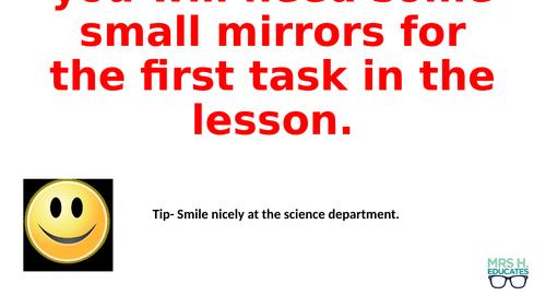 Frankenstien- Monster Reflection Lesson