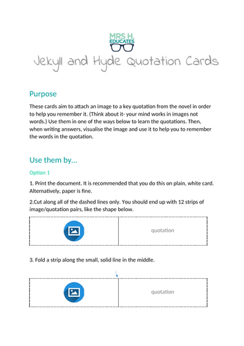 Jekyll and Hyde Quotation Cards