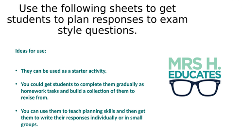 Lord of the Flies Exam Question Pack