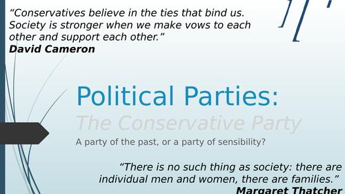 Political Parties - The Conservative Party (Edexcel spec focus)