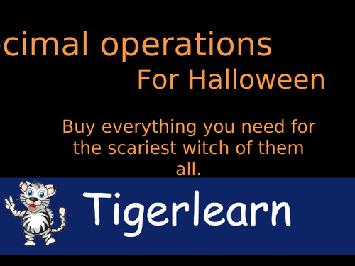 Decimal operations Halloween activity