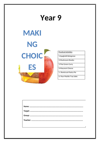 Year 9 Food Booklet