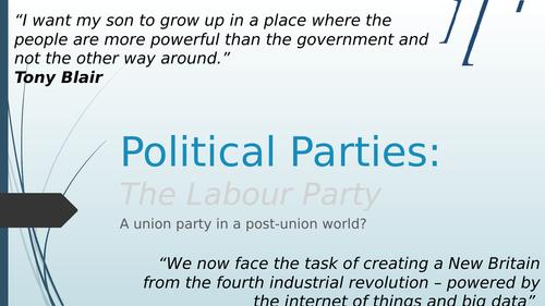 Political Parties - The Labour Party (Edexcel specification)