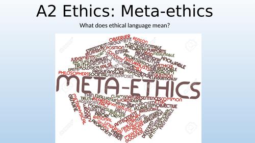Eduqas / WJEC A Level Religious Studies - Ethics Theme 1 DEF: Intro to Meta-Ethics