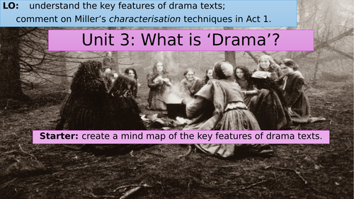 The Crucible: features of drama, Rev. Parris