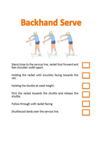 Badminton - Backhand Serve