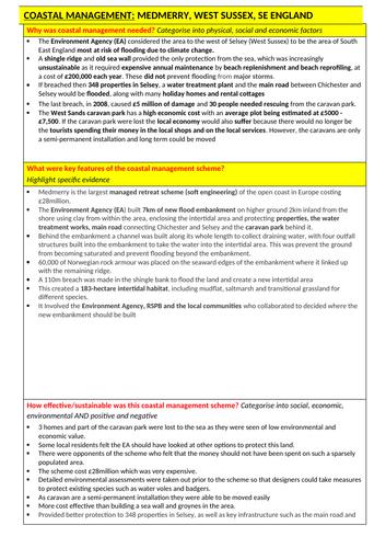 Managed retreat case study - Medmerry