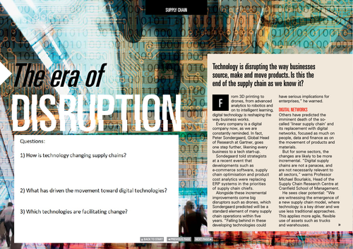 Technology Influencing Change - Global Economy - Supply Chains
