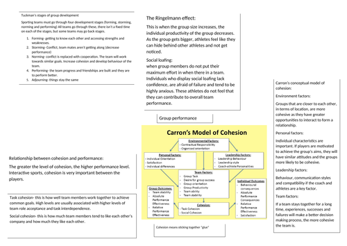 SPORTS AND EXERCISE SCIENCE UNIT 3 PSYCHOLOGY PACKAGE (11 DOCUMENTS)