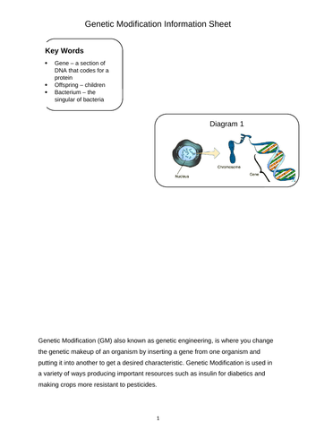 genetic modification by soprance teaching resources tes