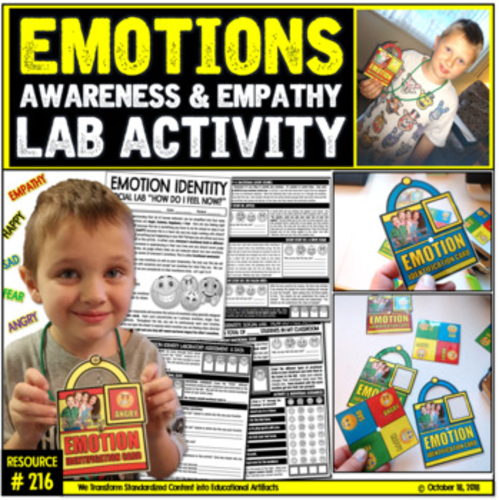 Emotions: Self-Awareness and Empathy Social Lab Activity (K-8)