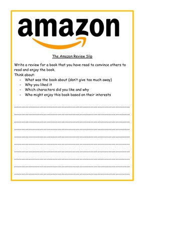 Amazon Book Review Template