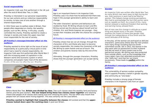 An Inspector Calls - Themes
