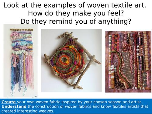 GCSE Textile Design Weaving Lesson.
