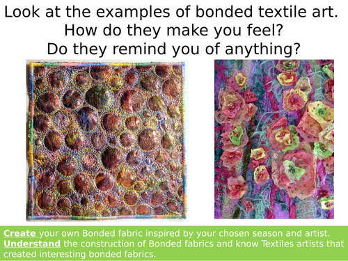 AQA Art and Design Bonded Fabrics Lesson (Angelina Fibers)