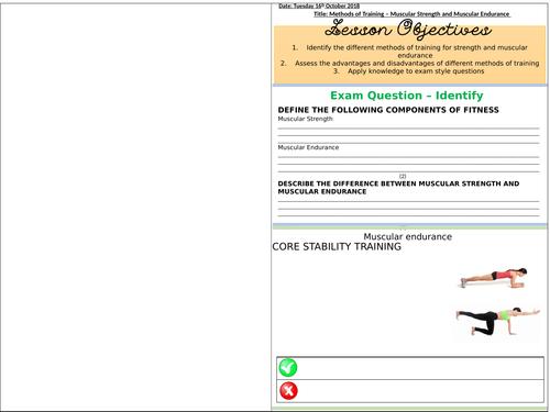 Strength & Endurance Work booklet