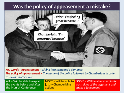 The policy of Appeasement