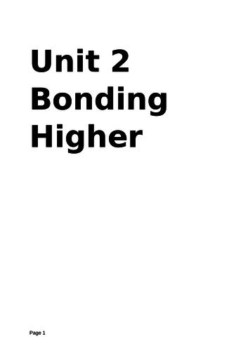 Aqa GCSE chemistry Unit 2 Bonding practice test higher