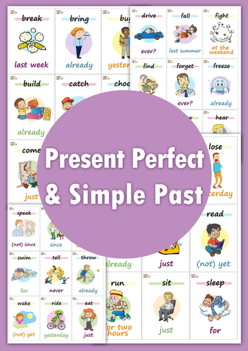 Present Perfect & Simple Past Card Game