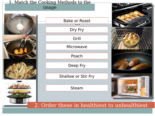 Cooking Methods Investigation Lesson