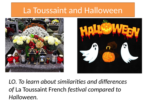 Toussaint Halloween Lesson with activities