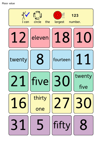 Place value worksheets and teaching aids