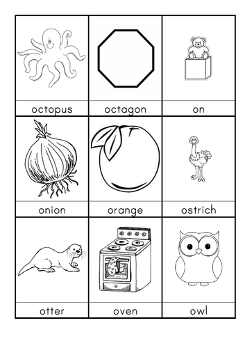 O words beginning with O flashcards