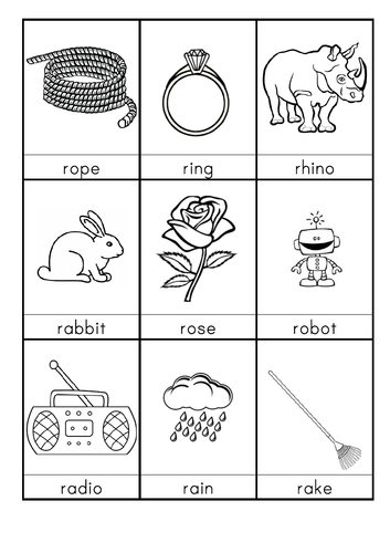 R words beginning with R