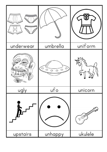 U words beginning with U