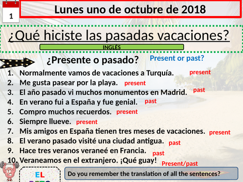 Adónde fuiste/destino Barcelona -revision