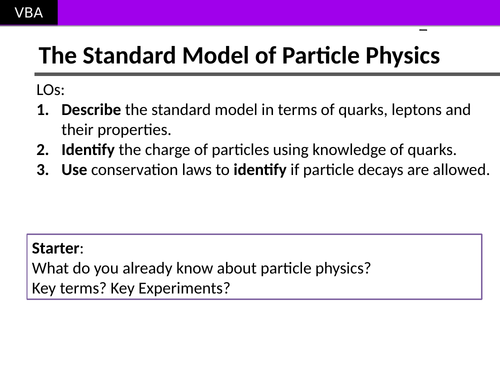 The Standard Model of Particle Physics (A2 Physics Edexcel)