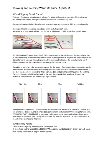 Throwing and Catching Activities in PE Aged 5-11