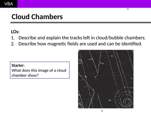 Cloud Chambers (Particle Detectors) (A2 Physics Edexcel)