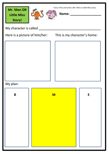 Plan & Write Your Very Own Mr Men/Little Miss Story