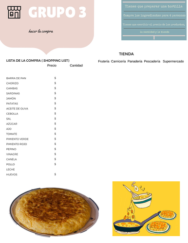 Recetas y compras. Food, groceries and cooking.