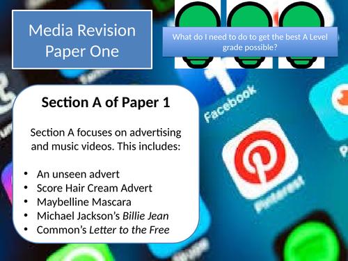 AQA Media Studies A Level Paper 1 Revision
