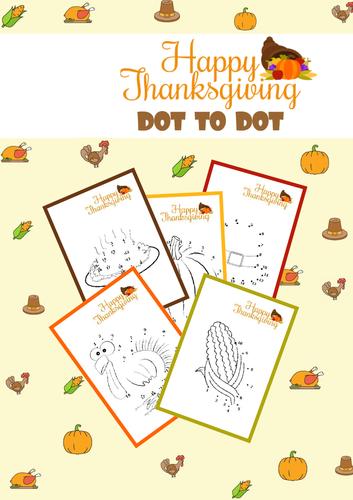 Thanksgiving Dot To Dot