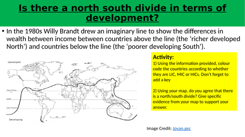 Development mapping - is there a north south divide?