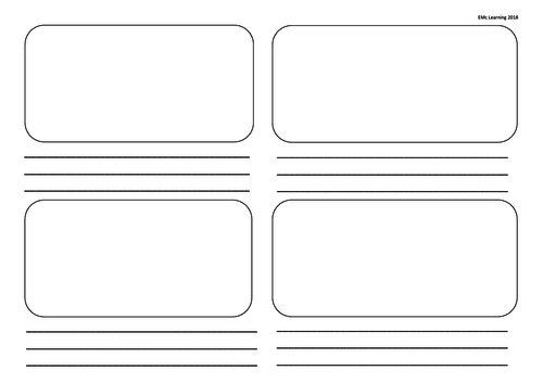 Storyboards 4, 6 and 8 Story Board