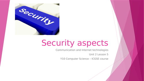 CIE IGCSE Computer Science: Security aspects