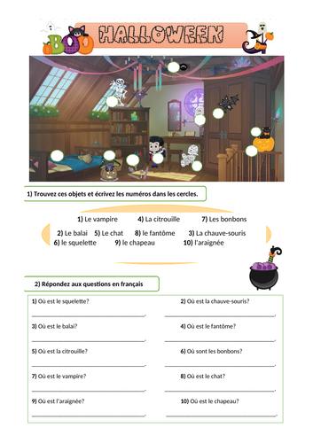 Halloween / Prepositions