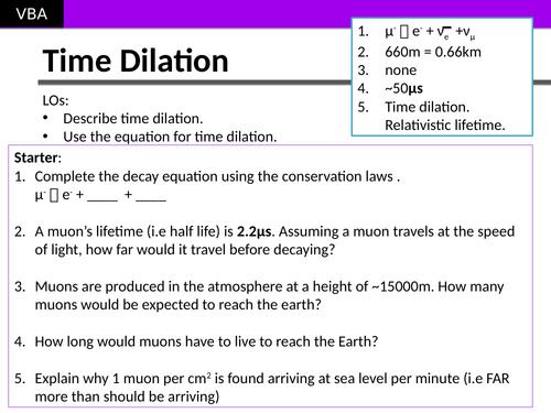 Time Dilation (A2 Physics Edexcel)